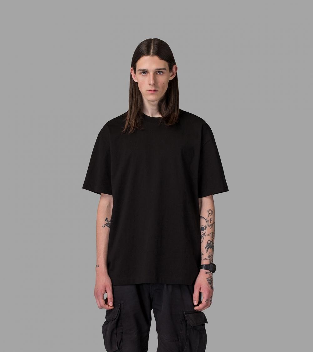 PLAIN OVERSIZED T-SHIRT - BLACK