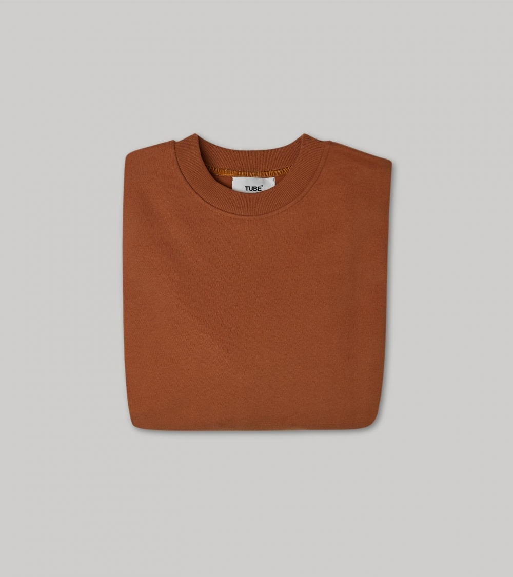 HYPERSIZED SWEATSHIRT - CLAY BROWN - 4