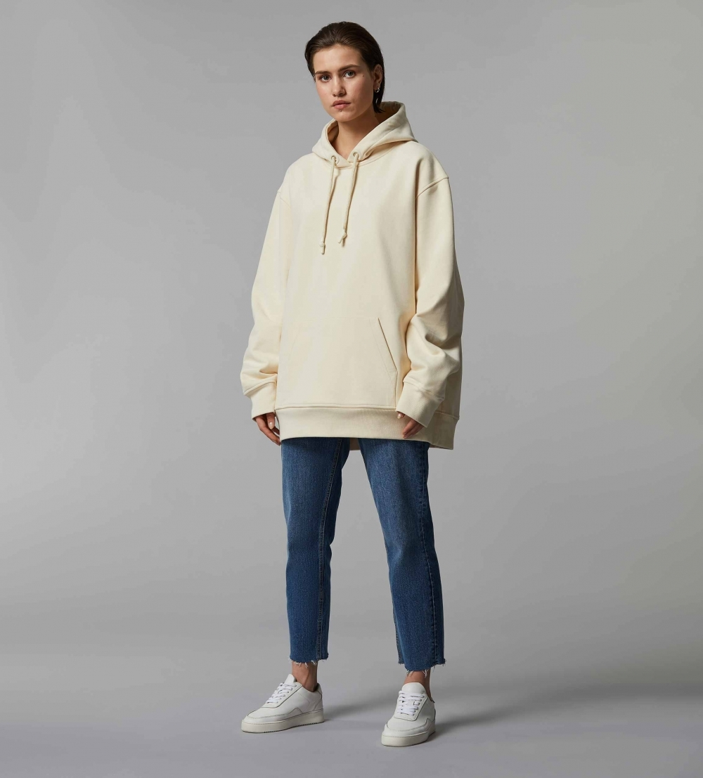 HYPERSIZED HOODIE - BUTTER - MILK - 2