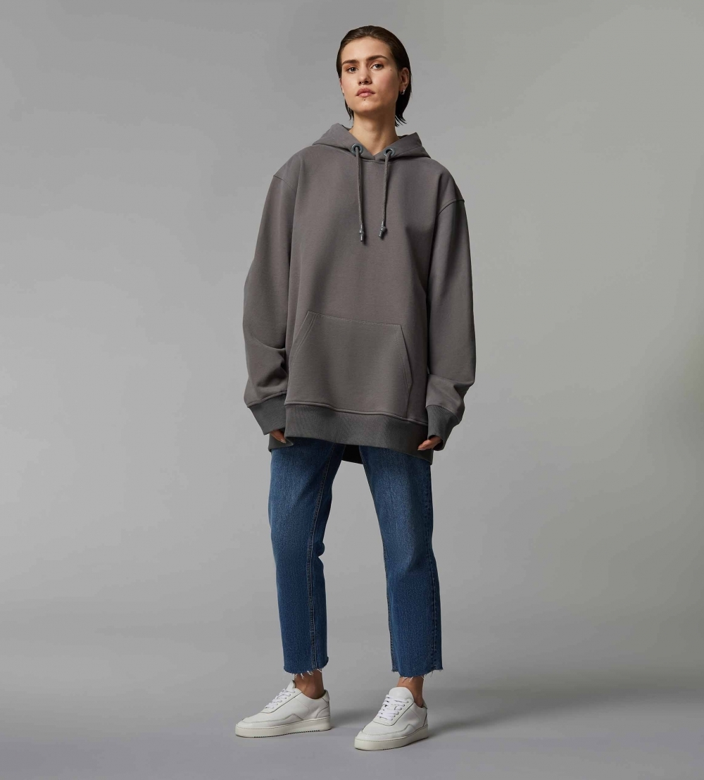 HYPERSIZED HOODIE - COOL GREY - 1