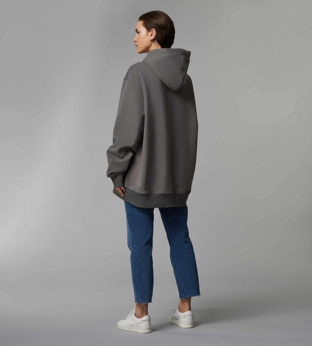HYPERSIZED HOODIE - COOL GREY - 3