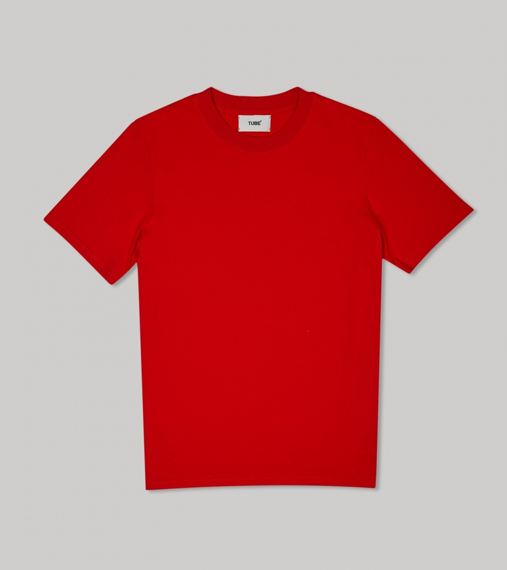 PLAIN OVERSIZED T‑SHIRT (WOMEN) - RED - 4