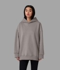 PLAIN OVERSIZED HOODIE - SMOKE GREY - 1