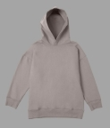 PLAIN OVERSIZED HOODIE - SMOKE GREY - 3