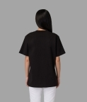 PLAIN OVERSIZED T-SHIRT (WOMEN) - BLACK - 2