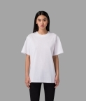 PLAIN OVERSIZED T-SHIRT (WOMEN) - WHITE - 1