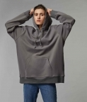 HYPERSIZED HOODIE - COOL GREY - 2
