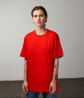 PLAIN OVERSIZED T‑SHIRT (WOMEN) - RED - 1