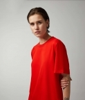 PLAIN OVERSIZED T‑SHIRT (WOMEN) - RED - 2
